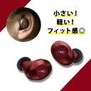 完全ワイヤレス イヤホン radius HP-T50BTR レッド 【送料無料】 Bluetooth イヤホン 【1年保証】