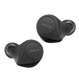完全ワイヤレスイヤホン Jabra ジャブラ Elite 75t WLC Black 【100-99092001-40】 【送料無料】 bluetooth フルワイヤレス 左右分離型 両耳 おすすめ ハンズフリー コードレス 無線