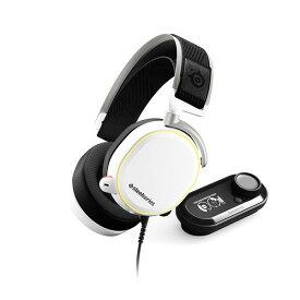 ゲーミングヘッドセット SteelSeries スティールシリーズ Arctis Pro + Game DAC White【送料無料】 ハイレゾ対応 高音質 ヘッドフォン PC/PS4対応ワイヤレスヘッドセット 【1年保証】