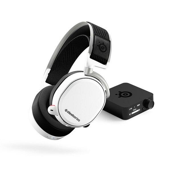 ゲーミングヘッドセット SteelSeries スティールシリーズ Arctis Pro Wireless White【送料無料】 ハイレゾ対応 高音質 ワイヤレス ヘッドフォン PC/PS4対応 ワイヤレスヘッドセット 【1年保証】
