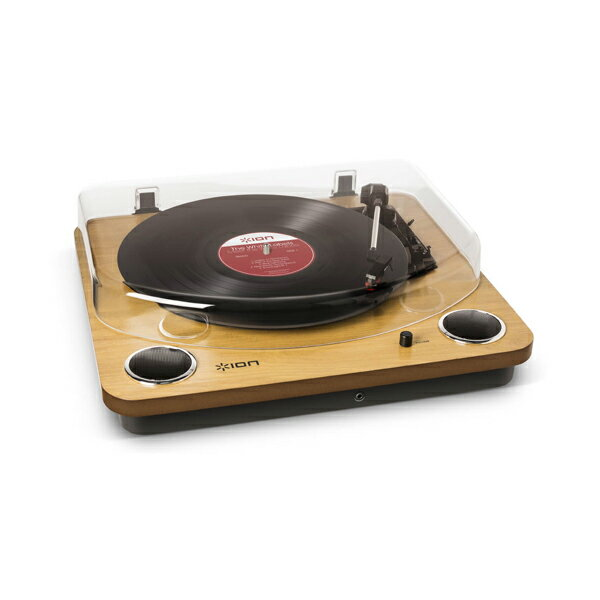 【レコードプレーヤー】ION MAX LP -Conversion Turntable with Stereo Speakers- USB端子/ステレオスピーカー搭載オールインワン・ターンテーブル
