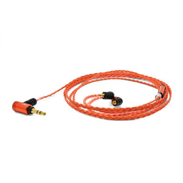 Re:cord(リコード) Palette 8 MX-B Deep Orange [MMCX-B type]【Westone用MMCXリケーブル】【送料無料】