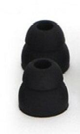 NOBUNAGA Labs(ノブナガラボ) Double TIP-2 ブラック(ダブルフランジイヤーピース 4個入り)