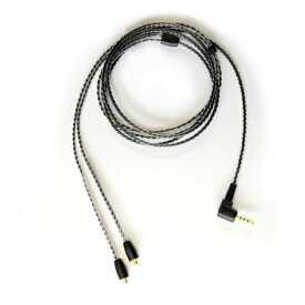 NOBUNAGA Labs(ノブナガラボ) BL-AKX1 BK(2.5mm4極) 2.5mm4極バランス対応MMCXイヤホンケーブル 【1ヶ月保証】 【送料無料】