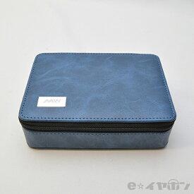 AAW Square Carry Case (Blue) イヤホン プレイヤー レザー ケース 小物入れ 【送料無料】