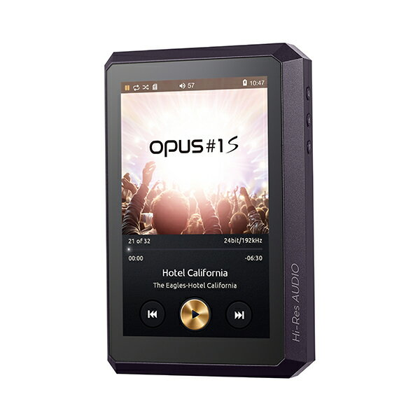 audio-opus オーディオオーパス OPUS#1S ミッドナイトパープル [HA-520-32G-MP]ハイレゾ対応ポータブルプレイヤー【送料無料(代引き不可)】 【1年保証】