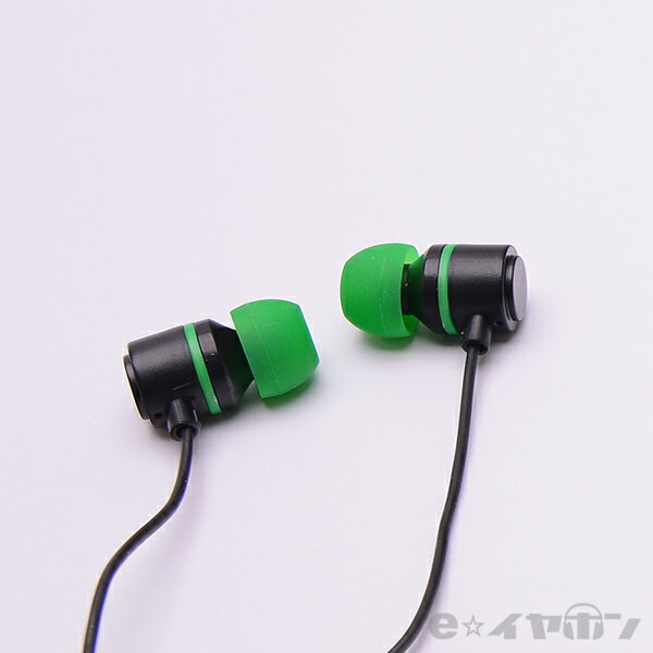 かわいい イヤホン ALPEX アルペックス HSE-A500BG【ブラックグリーン】 カナル型 イヤホン 【1年保証】