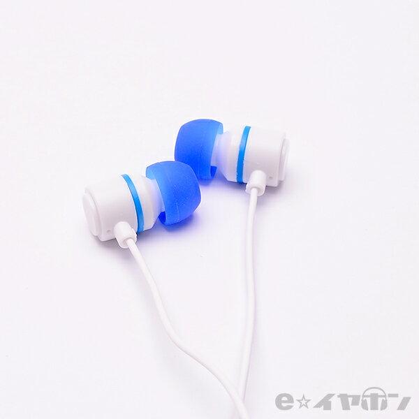かわいい イヤホン ALPEX アルペックス HSE-A500WB【ホワイトブルー】 カナル型 イヤホン 【1年保証】