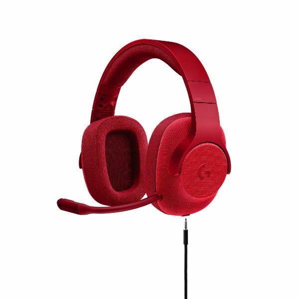 【ポイント10倍】 ゲーミングヘッドセット ロジクール G433 レッド【送料無料】 7.1chサラウンド 高音質 ヘッドホン ヘッドフォン