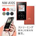 【2019年モデル】 SONY ソニー ウォークマン NW-A105 DM オレンジ Walkman ウォークマン 本体 Aシリーズ 16GB ハイレゾ対応 A100モデル ギフト 【送料無料】【1年保証】