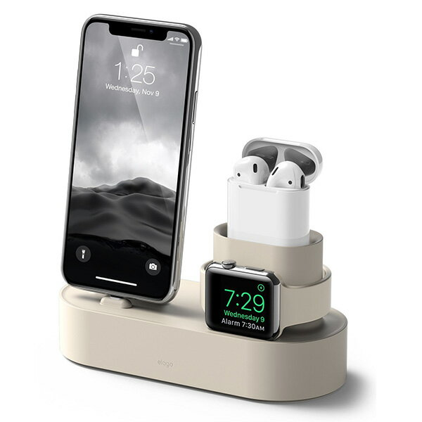 elago エラゴ Charging Hub for iPhone / AirPods / Apple Watch クラッシックホワイト AirPods iPhone AppleWatchを整理して充電できるスタンド 【EL_IAASTSC3S_CW】 【送料無料】