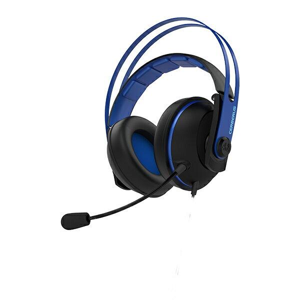 【ポイント5倍】 ゲーミングヘッドセット ASUS エイスース Cerberus V2 BLUE PS4 / PC 対応 【1年保証】 【送料無料】