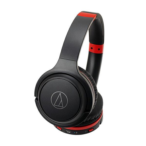 Bluetoothワイヤレスヘッドホン audio-technica オーディオテクニカ ATH-S200BT-BRD ブラックレッド 【1年保証】 【送料無料】
