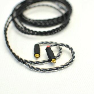 Labkable Silver(黑色)MMCX 1.2m MMCX电缆/耳机用再电缆