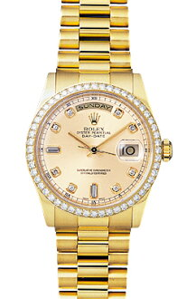 Rolex day-Date Watch 118348A champagne 10 P diamond