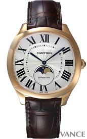 カルティエ ドライブ ドゥ カルティエ ムーンフェイズ WGNM0008 シルバー メンズ CARTIER 【未使用品】【腕時計】