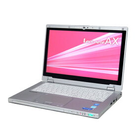 中古 パソコン ★ Panasonic Let'snote CF-AX3 B5 ノートパソコン 11.6インチ タブレット カメラ フルHD 無線LAN WPS Office付き Windows8.1 Pro 64bit 【Core i5-4350U/4GB/128GB SSD】