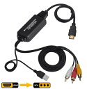 HDMI to RCA 変換コンバーター 3RCA/AV 変換ケーブル HDMI to AV コンポジット HDMIからアナログに変換アダプタ 1080P…