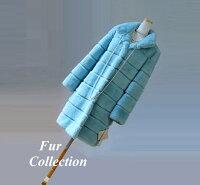 滑らかな手触りのレッキスベスト☆毛皮ジャケット・ファー・ミンクヤーン・トスカーナ・レオパード・新春セール・バーゲン・チンチラ・毛皮お好きな方に