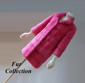 SALE! リッチなミンクのコート新品サンプル品処分ピンク系送料無料☆ミンクジャケット・ケープ・レオパード・チンチラ・ムートン・フォックス・モンクレール・シャネル・エルメス・レディースファー・ミンクマフラーお好きな方に