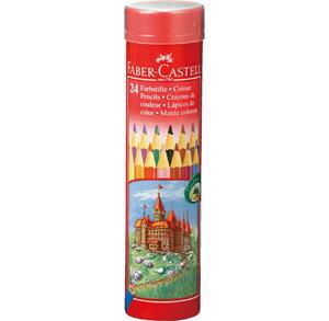 ファーバーカステル・レッドライン色鉛筆(丸缶)24色セット