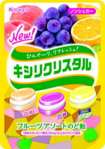 キシリクリスタルフルーツアソートのど飴(67g)