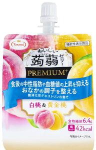おいしい蒟蒻ゼリーPUREMIUM+白桃&黄金桃(150g)