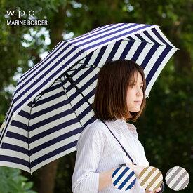 MARINE BORDER (長傘 ジャンプ傘)(傘 雨傘 レディース かさ カサ 長傘 長かさ 長カサ w.p.c wpc W.P.C. uvカット uv)