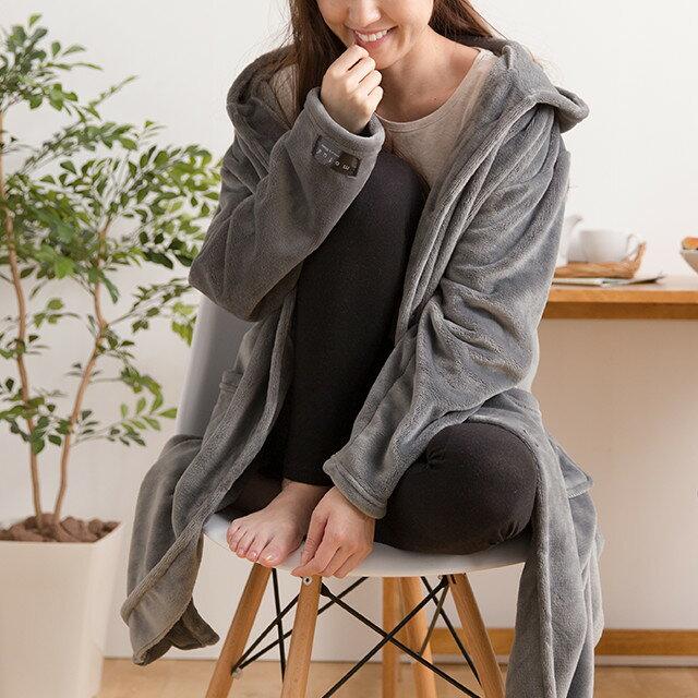 mofua プレミマムマイクロファイバー着る毛布 フード付ルームウェア