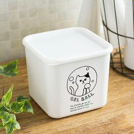 ネコランドリー デタージェントボール 詰替用 ボックス デタージェントボールBOX 洗濯 1100ml 日本製 ジェルボール 専用 容器 かわいい 猫 おしゃれ 人気 ボックス フタ付き 詰替え ホワイト シンプル ランドリーボトル soji 白 neco
