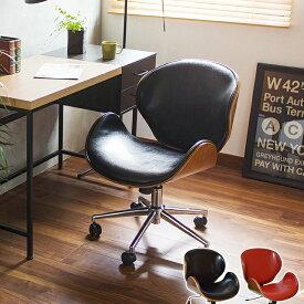 ロッキング デスクチェア knox 1314 パソコンチェア ワークチェア オフィスチェア ダンディーチェア ロッキングチェア キャスター付き チェア チェアー 椅子 イス おしゃれ 昇降式 パーソナル モダン ミッドセンチュリー 書斎 レザー ブラック レッド