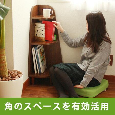ウッドコーナーラック アングル(corner rack 玄関ラック 本棚 シンプル キッチン トイレ)