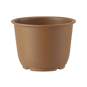 鉢 プラスチック 和鉢 陶鉢 輪型 6号 きん茶 アップルウェアー