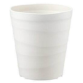 鉢 プラスチック バラ プランター クラフトポット 40型 ホワイト アップルウェアー