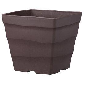 鉢 プラスチック バラ プランター クラフトスクエア 30型 ダークブラウン アップルウェアー