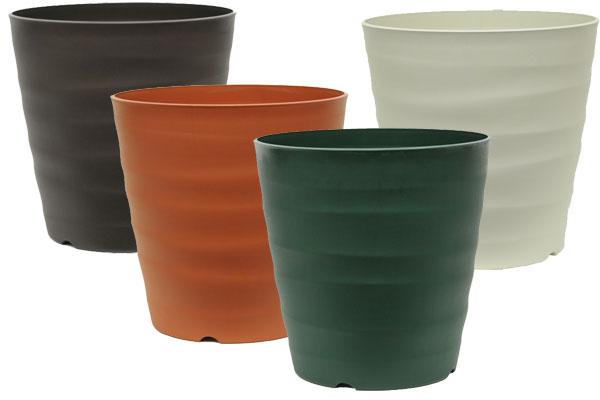 大和プラスチック 鉢 フレグラーポット 30型(ダークブラウン/ブラウン/ダークグリーン/アイボリー)