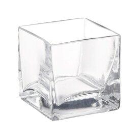 ガーデン雑貨 花瓶 ガラス フラワーベース H1161 キューブS 8cm角 エイチツーオー