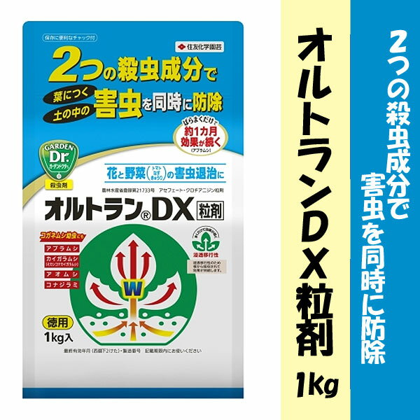 【クーポン配布中】住友化学園芸 殺虫剤 オルトランDX粒剤 1kg 動画解説あり