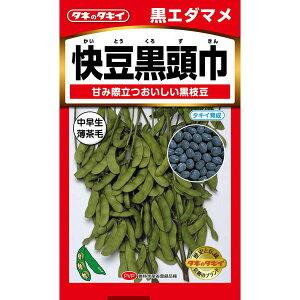 タキイ種苗 野菜種 黒枝豆 快豆黒頭巾 M