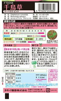 タキイ種苗花種千鳥草マーベラスピンクメール便対応(B04-023)