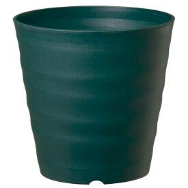 鉢 プラスチック おしゃれ フレグラーポット 18型 ダークグリーン 大和プラスチック