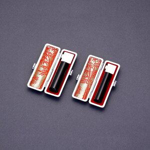 印鑑 セット 2本/実印 銀行印 セット/高級本ワニ腹側ケースx2個付/印鑑セット-L/黒水牛(高級芯持)/16.5mm13.5mm/印鑑10年保証付/印鑑プレビュー無料/トップクラスの匠-大周先生の美しい印影を匠の