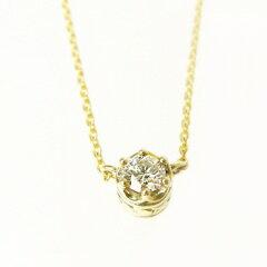 K10YG(10金イエローゴールド)ダイヤモンドネックレス