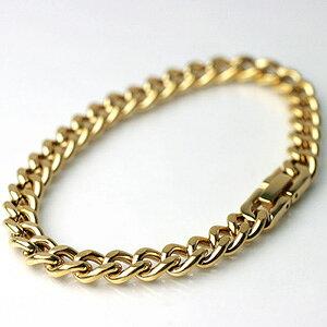 (即納可) チタン ブレスレット [金色] 喜平 20cmチェーン7.0mm幅(ゴールド イオンプレーティング加工) 金属アレルギー対応 チタンチェーン チタンブレスレット チタンチェーン 通販 ギフト