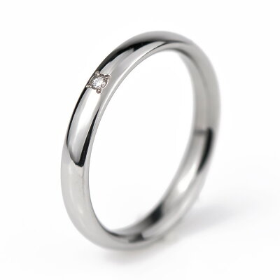 チタン結婚指輪純チタンマリッジリング日本製単品鏡面仕上げプラチナイオンプレーティング加工刻印無料(文字彫り)金属アレルギーにも強いアレルギーフリー安心ブライダルリング刻印可能ダイヤモンド付き