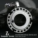 サージカル ステンレス スチール(316L)ブラックキュービックジルコニア メンズ ネックレス (ZTP1303) Zanipolo Terzini(ザニポロ・...