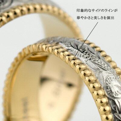 【刻印可能】ハワイアンジュエリーペアリングサージカルステンレス(316L)プルメリアリングステンレスアクセサリー(e-宝石屋)絆ペア指輪jbcj刻印可能(文字彫り)金属アレルギーにも強い【02P18Jun16】(c)