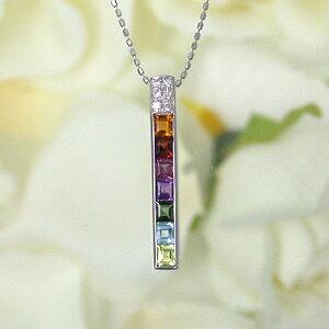 K18WG(18金 ホワイトゴールド) マルチ ダイヤモンド (4月の誕生石)ネックレスレディース (e-宝石屋) 絆 jbcj 【夏のボーナス特集2021】