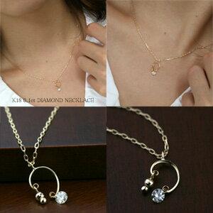 K18(K18ゴールド)ダイヤモンドネックレス