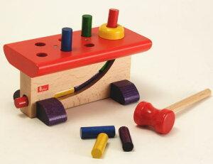 【クーポン配布中】ニック社 大工さん 木製 ハンマートイ 知育玩具 木のおもちゃ ブラザー・ジョルダン社 木製 安心 出産祝い お誕生祝 楽天
